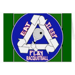 Eat Sleep Play Racquet Ball Card