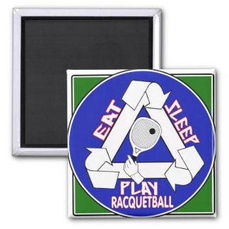 Eat Sleep Play Racquet Ball Magnet
