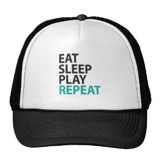EAT SLEEP PLAY REPEAT HATS