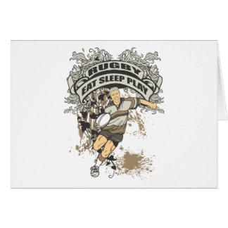 Eat, Sleep Play Rugby Card