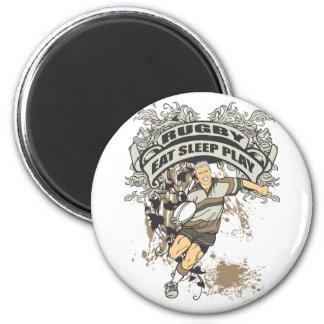 Eat Sleep Play Rugby Fridge Magnets