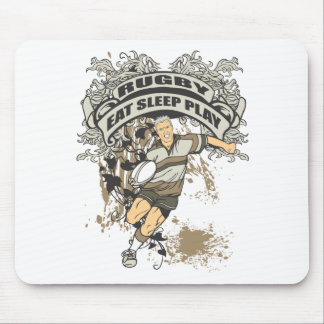 Eat, Sleep Play Rugby Mouse Pad