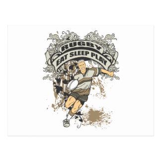 Eat, Sleep Play Rugby Postcard