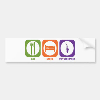 Eat Sleep Play Saxophone Bumper Sticker
