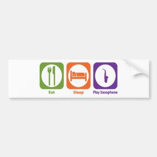 Eat Sleep Play Saxophone Car Bumper Sticker