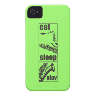 Eat Sleep Play Saxophone iPhone 4 Cases