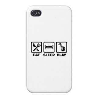 Eat Sleep Play Saxophone Cases For iPhone 4