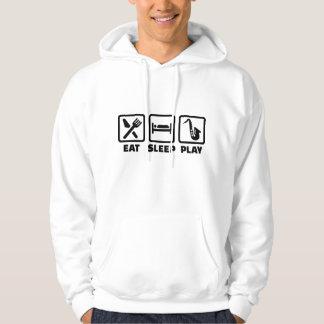 Eat Sleep Play Saxophone Hooded Sweatshirt