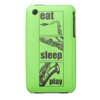 Eat Sleep Play Saxophone iPhone 3 Case-Mate Case