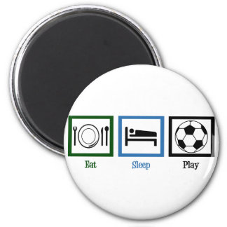 Eat Sleep Play Soccer 2 Inch Round Magnet