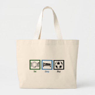 Eat Sleep Play Soccer Jumbo Tote Bag