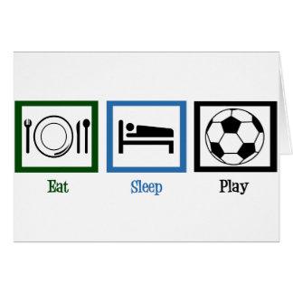 Eat Sleep Play Soccer Card