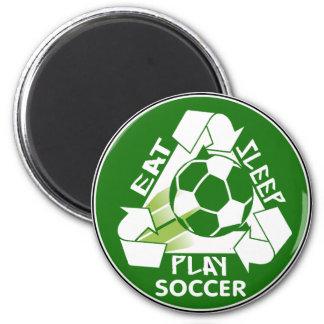 Eat Sleep Play Soccer Fridge Magnets