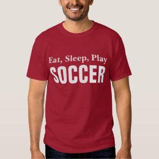 Eat sleep play soccer shirt