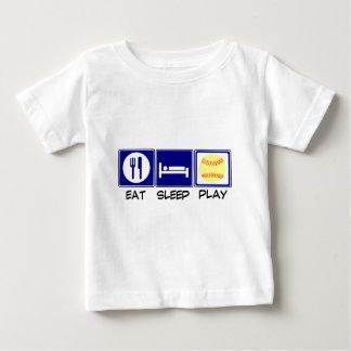 Eat, Sleep, Play Softball Baby T-Shirt