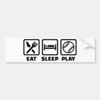 Eat sleep play Softball Bumper Sticker