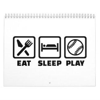 Eat sleep play Softball Calendar