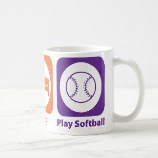 Eat Sleep Play Softball Coffee Mug