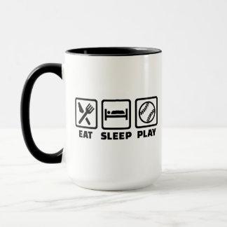 Eat sleep play Softball Mug
