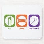 Eat Sleep Play Squash Mouse Pad