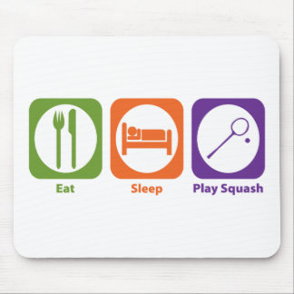 Eat Sleep Play Squash Mouse Pad