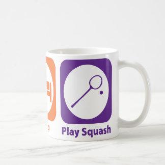 Eat Sleep Play Squash Coffee Mugs
