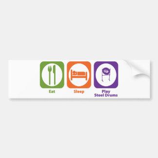 Eat Sleep Play Steel Drums Bumper Sticker