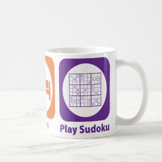Eat Sleep Play Sudoku Mugs