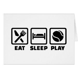 Eat Sleep play Tennis Greeting Cards