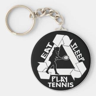 Eat Sleep Play TENNIS - Do It Again Keychain