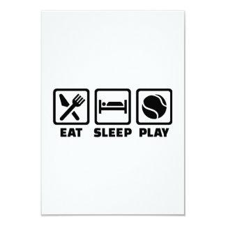Eat Sleep play Tennis Personalized Invites