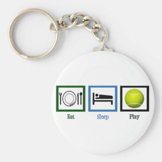 Eat Sleep Play Tennis Keychain