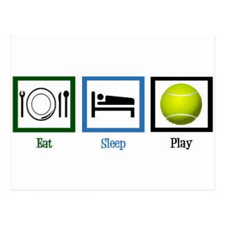 Eat Sleep Play Tennis Postcard