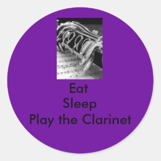 Eat, Sleep, Play the Clarinet Classic Round Sticker