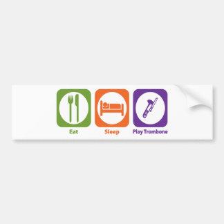 Eat Sleep Play Trombone Bumper Sticker