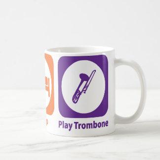 Eat Sleep Play Trombone Coffee Mugs