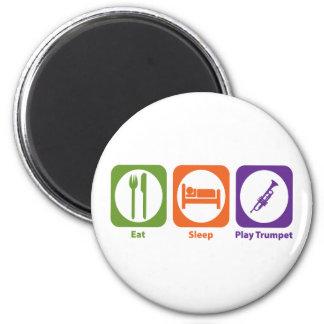 Eat Sleep Play Trumpet 2 Inch Round Magnet