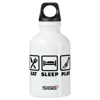 Eat Sleep Play Trumpet Aluminum Water Bottle