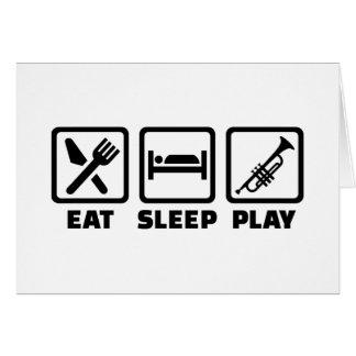 Eat Sleep Play Trumpet Cards