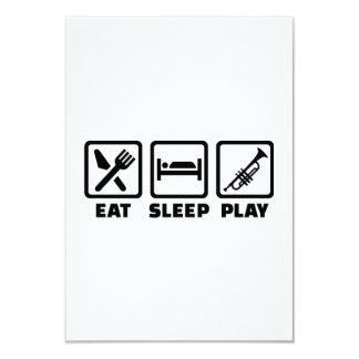 Eat Sleep Play Trumpet Custom Invitations