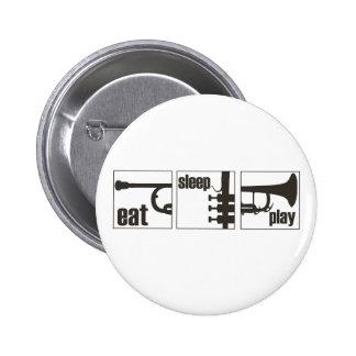 Eat. Sleep. Play. Trumpet Pinback Button