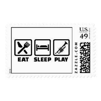 Eat Sleep Play Trumpet Stamps