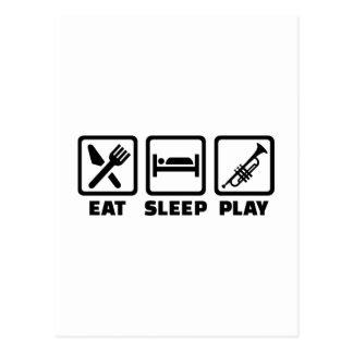 Eat Sleep Play Trumpet Postcard