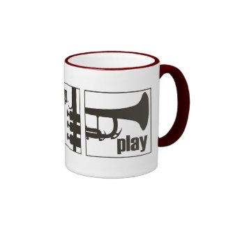 Eat. Sleep. Play. Trumpet Ringer Coffee Mug