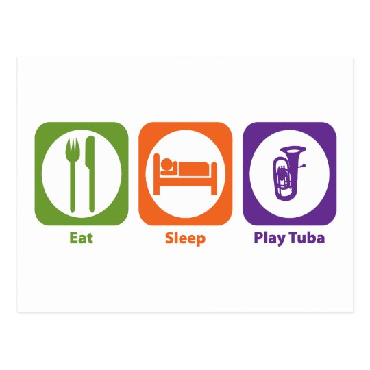 Eat Sleep Play Tuba Postcard