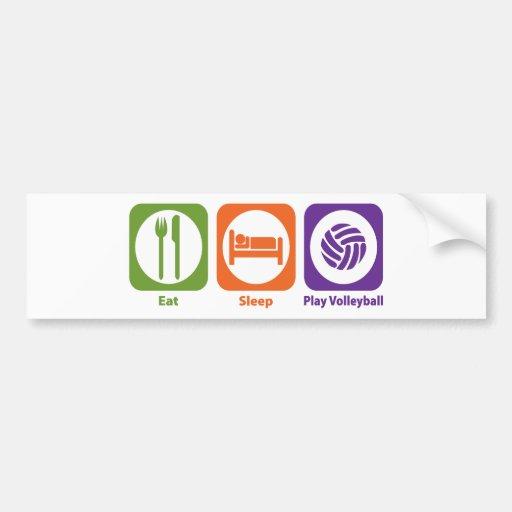 Eat Sleep Play Volleyball Bumper Sticker