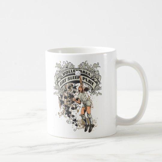 Eat, Sleep, Play Volleyball Coffee Mug