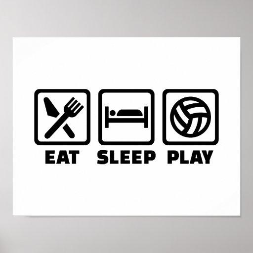 Eat Sleep Volleyball TShirts  CafePress
