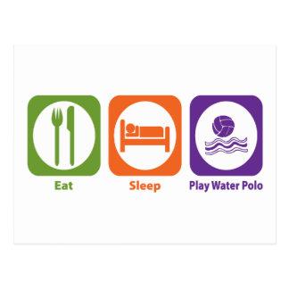 Eat Sleep Play Water Polo Postcard