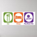 Eat Sleep Play Water Polo Poster